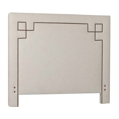 Quinn Upholstered Panel Headboard Size: Twin, Upholstery: Gray