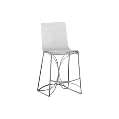 Angela 24.75 Bar Stool Color: Antique Silver