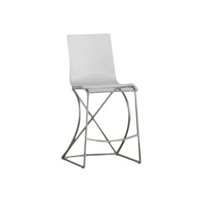Johnson 24.75 Bar Stool Finish: Antique Silver
