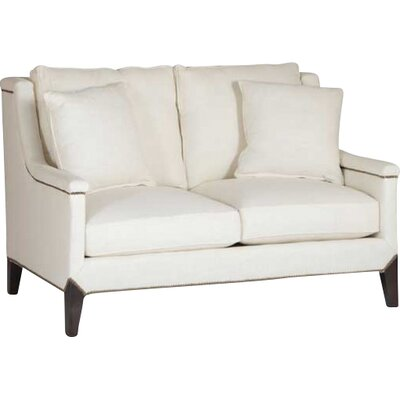 Liam Capped Arm Loveseat Upholstery: Cream