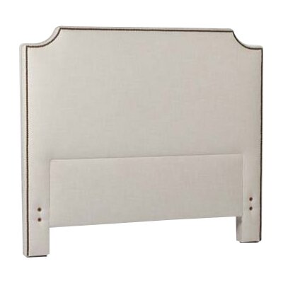 Clara Upholstered Panel Headboard Size: Twin, Upholstery: Cream