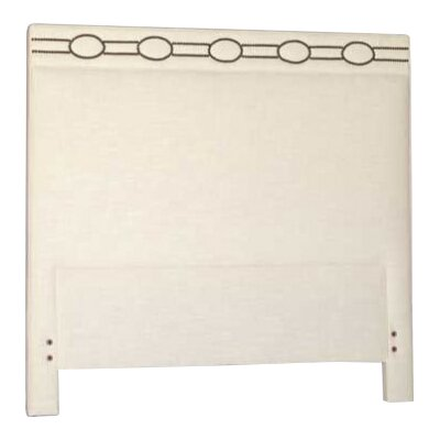 Richmond Upholstered Panel Headboard Size: Twin, Upholstery: Cream