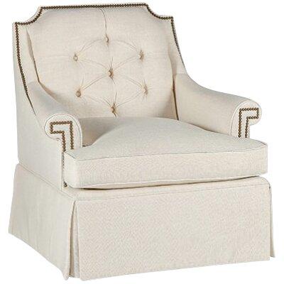 Victoria Swivel Armchair Upholstery: Cream