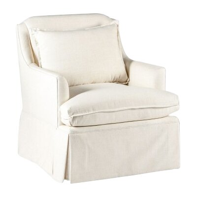 Bridgette Armchair Upholstery: Cream