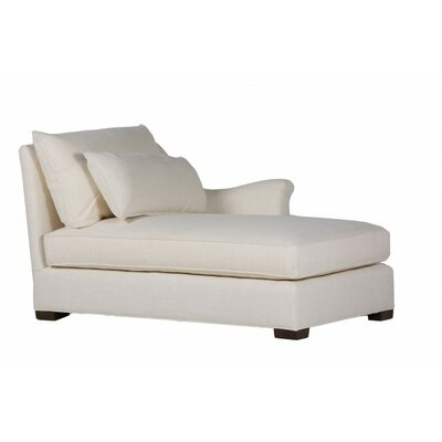 Westley Chaise Lounge Upholstery: Zulu Vanilla, Orientation: Left Arm Facing, Size: 37