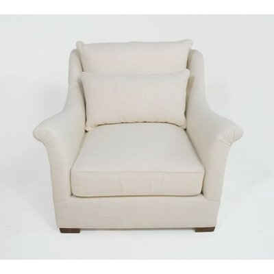Westley Armchair Upholstery: Zulu Feather, Size: 37