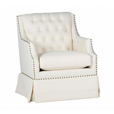 Graham Armchair Upholstery: Zulu Vanilla, Nailhead Detail: Included, Base Type: Swivel