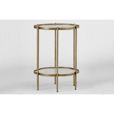 Clementine Flower End Table