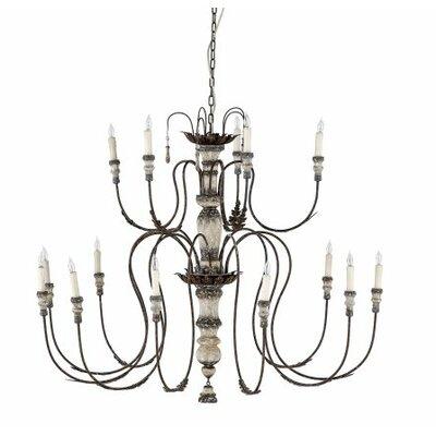 Josephine 15-Light Candle-Style Chandelier