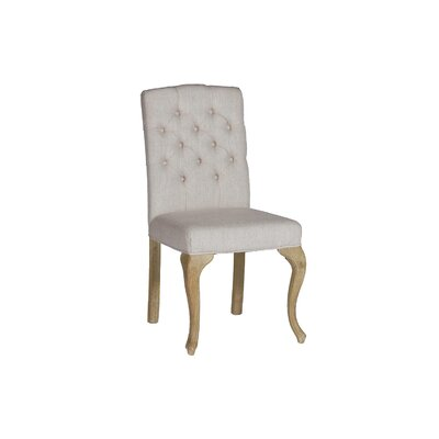 Avignon Stacking Dining Upholstered Dining Chair Color: Natural