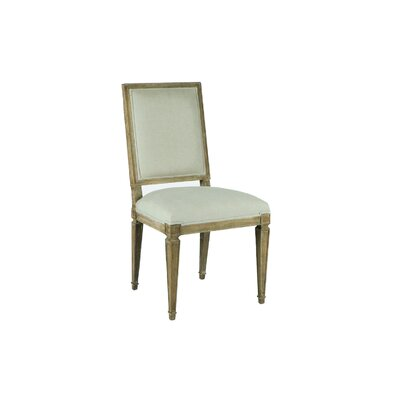 Danielle Stacking Dining Upholstered Dining Chair Frame Color: Natural