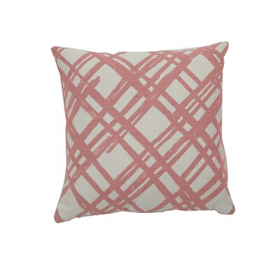 Slash Indoor/Outdoor Throw Pillow (Set of 2) Color: Flamingo, Size: 24 x 24