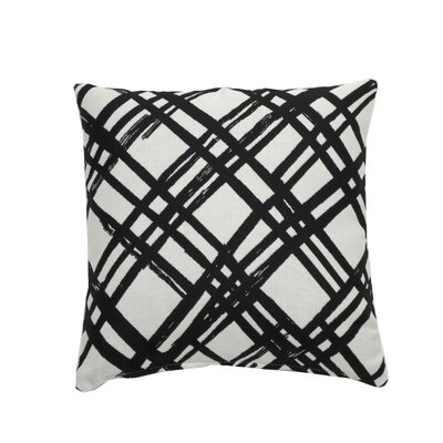 Slash Indoor/Outdoor Throw Pillow (Set of 2) Color: Midnight, Size: 24 x 24