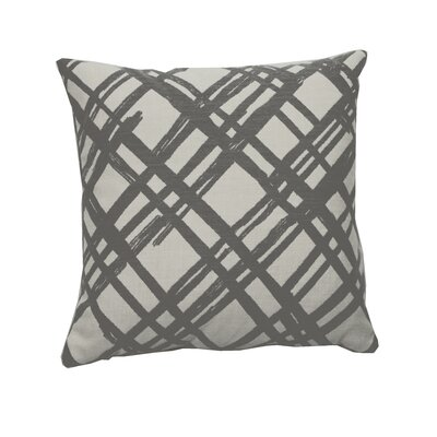 Slash Indoor/Outdoor Throw Pillow (Set of 2) Color: Pewter, Size: 20 x 20