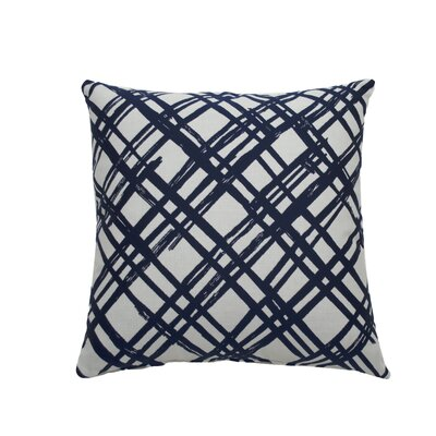 Slash Indoor/Outdoor Throw Pillow (Set of 2) Color: Navy, Size: 20 x 20