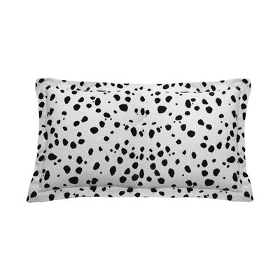 Spotty Indoor/Outdoor Lumbar Pillow (Set of 2) Color: Midnight