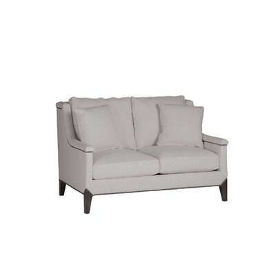 Liam Capped Arm Loveseat Upholstery: Gray