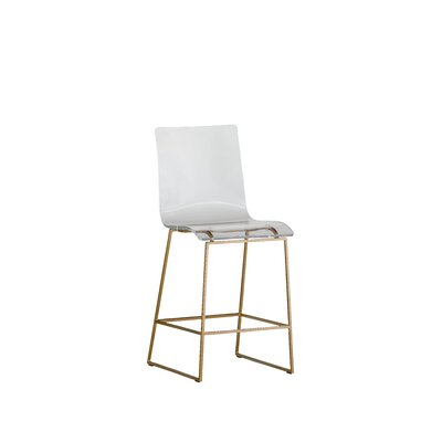 King 23.45 Bar Stool Color: Antique Gold