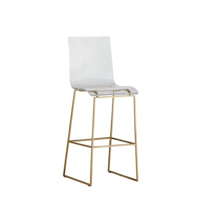 King 30 Bar Stool Color: Antique Gold