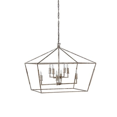 Amelia 8-Light Foyer Pendant Color: Antique Brass
