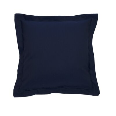 Linen Indoor/Outdoor Throw Pillow (Set of 2) Color: Indigo, Size: 24 x 24