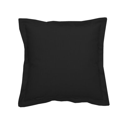 Linen Indoor/Outdoor Throw Pillow (Set of 2) Color: Midnight, Size: 17 x 17