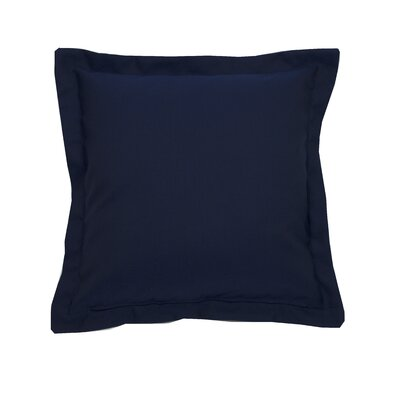 Linen Indoor/Outdoor Throw Pillow (Set of 2) Color: Navy, Size: 22 x 22