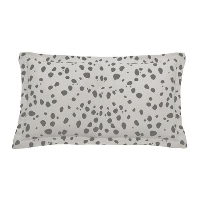 Spotty Indoor/Outdoor Lumbar Pillow (Set of 2) Color: Pewter