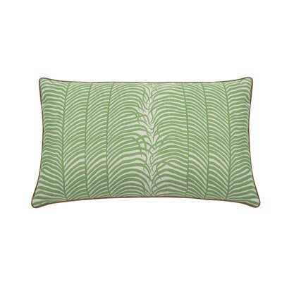Summer Sulu Indoor/Outdoor Lumbar Pillow (Set of 2) Color: Emerald
