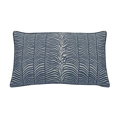 Summer Sulu Indoor/Outdoor Lumbar Pillow (Set of 2) Color: Navy
