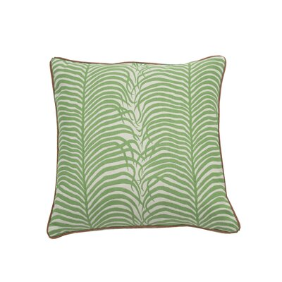 Summer Sulu Indoor/Outdoor Throw Pillow (Set of 2) Color: Emerald, Size: 24 x 24