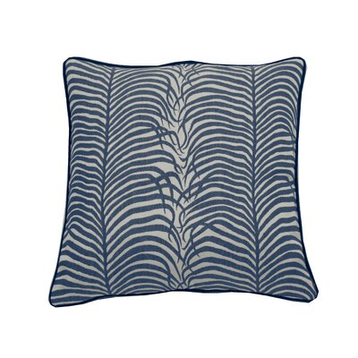 Summer Sulu Indoor/Outdoor Throw Pillow (Set of 2) Color: Navy, Size: 22 x 22