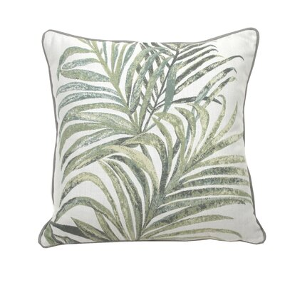 Tropico Indoor/Outdoor Throw Pillow (Set of 2) Color: Mist, Size: 22 x 22