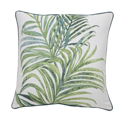Tropico Indoor/Outdoor Throw Pillow (Set of 2) Color: Peacock, Size: 22 x 22