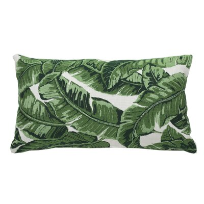 Tropics Indoor/Outdoor Lumbar Pillow (Set of 2) Color: Emerald