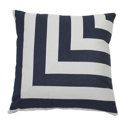 Halo Indoor/Outdoor Throw Pillow (Set of 2) Color: Indigo, Size: 20 x 20
