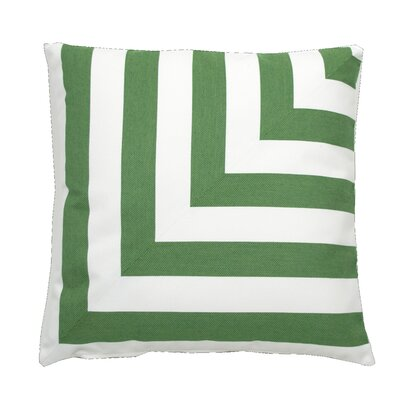 Halo Indoor/Outdoor Throw Pillow (Set of 2) Color: Kelly, Size: 22 x 22