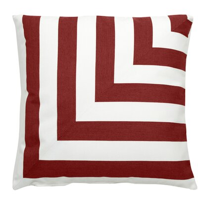 Halo Indoor/Outdoor Throw Pillow (Set of 2) Color: Cajun, Size: 22 x 22