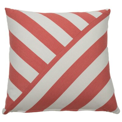 Halo Indoor/Outdoor Throw Pillow (Set of 2) Color: Flamingo, Size: 24 x 24