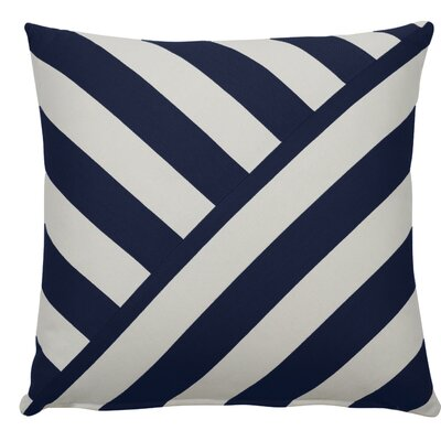 Halo Indoor/Outdoor Throw Pillow (Set of 2) Color: Indigo, Size: 24 x 24