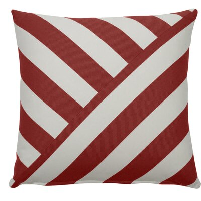 Halo Indoor/Outdoor Throw Pillow (Set of 2) Color: Cajun, Size: 20 x 20