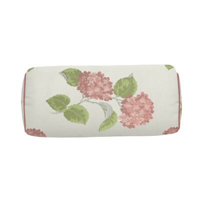 Hydrangea Indoor/Outdoor Bolster (Set of 2) Color: Flamingo