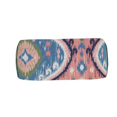 Manado Ikat Indoor/Outdoor Bolster (Set of 2) Color: Indigo