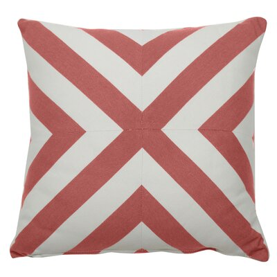 Halo Indoor/Outdoor Throw Pillow (Set of 2) Color: Flamingo, Size: 20 x 20