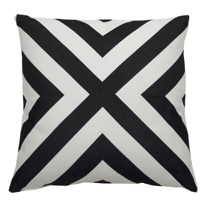 Halo Indoor/Outdoor Throw Pillow (Set of 2) Color: Midnight, Size: 22 x 22