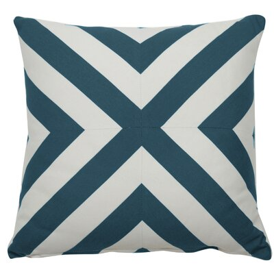 Halo Indoor/Outdoor Throw Pillow (Set of 2) Color: Peacock, Size: 22 x 22