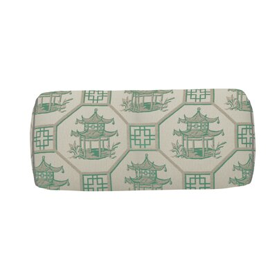 Pagoda Scene Indoor/Outdoor Bolster (Set of 2) Color: Emerald