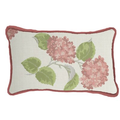 Hydrangea Indoor/Outdoor Lumbar Pillow (Set of 2) Color: Flamingo