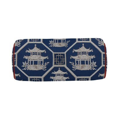 Pagoda Scene Indoor/Outdoor Bolster (Set of 2) Color: Cajun
