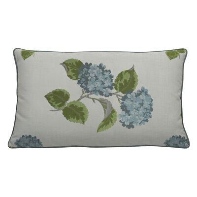 Hydrangea Indoor/Outdoor Lumbar Pillow (Set of 2) Color: Mist
